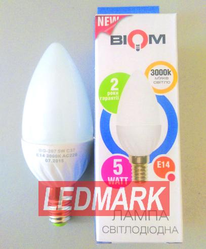 Лампа светодиодная BIOM BG-207 5W 3000K E14