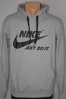 Мужская спортивная кофта  в стиле Nike с капюшоном  кенгуру, фото 1