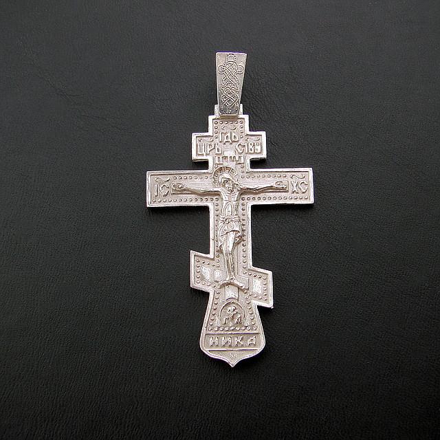 Серебряный крест №87, фото 1