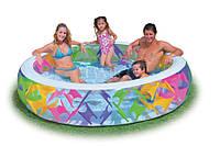 Надувной бассейн с надувным дном