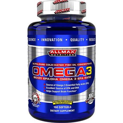 Omega 3 AllMax - 180 softgel, фото 2