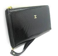 Клатч лаковый женский кожаный черный 263, фото 1