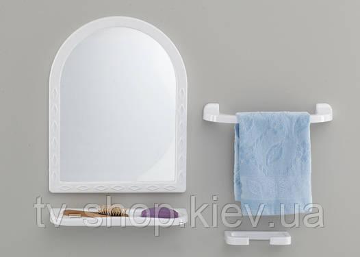 Набор в ванную с зеркалом Tombo-4 (кремовый)