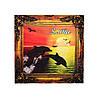 """""""Дельфіни 4"""" магніт - картина Ялта 70х70 мм"""