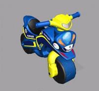 """Детский беговел-мотоцикл """"МотоБайк Спорт"""" (звук), цвет синий"""