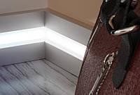 Плинтус алюминиевый для светодиодной подсветки 10х60 мм