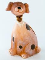 Собака керамика фигурка