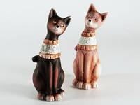 Керамическая статуэтка  Кошка с ошейником