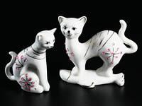 Статуэтка Кошка и кот фарфор