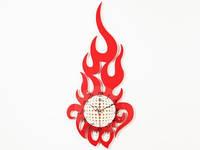 Настенные часы большие Пламя