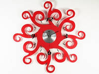 Часы настенные красные Вселенная