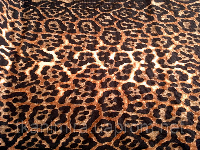 "Трикотаж  ""Леопард"" / коричневый"