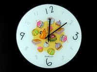 Часы настенные из стекла Сладости