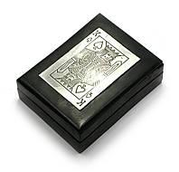 Шкатулка для карт деревянная