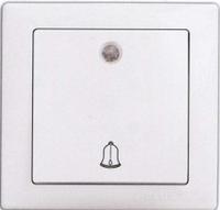 Выключатель звонка с подсветкой белый Delux WEGA 9026(10040340)