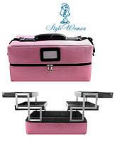 Сумка кейс BPT-02 Lady Victory из текстиля для мастеров фиолетовая