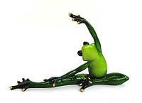 Керамическая фигурка подарок лягушка йога