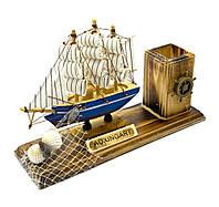 Корабль с подставкой для ручек