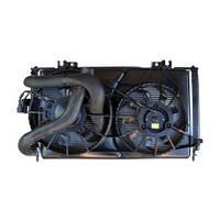 Радиатор ВАЗ 2170 Приора кондиционера Halla с трубопроводами и электровентиляторами (Южная Корея)