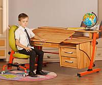 Школьный письменный стол, бук на металлокаркасе