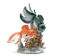 Статуэтка Золотые рыбки фарфор