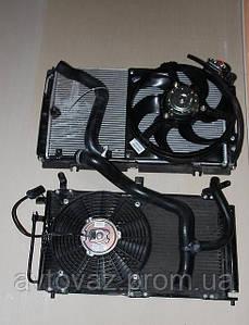 Радиатор охлаждения ВАЗ 1118, ВАЗ 1119 Калина кондиционер Panasonic  в сборе