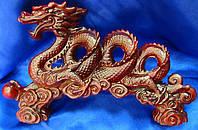 Сувенир Дракон спираль каменная крошка коричневый