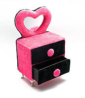 Розовая шкатулка комод для бижутерии