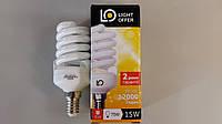 Лампа энергосберегающая LightOffer 15W E14 4000K
