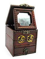 Шкатулка Квадратная с зеркалом