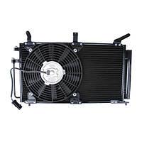Радиатор, конденсатор кондиционера ВАЗ 1118, ВАЗ 1119 Калина Panasonic с вентилятором