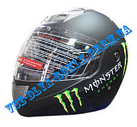 Шлем-трансформер BLD-156 MONSTER ENERGY черный матовый