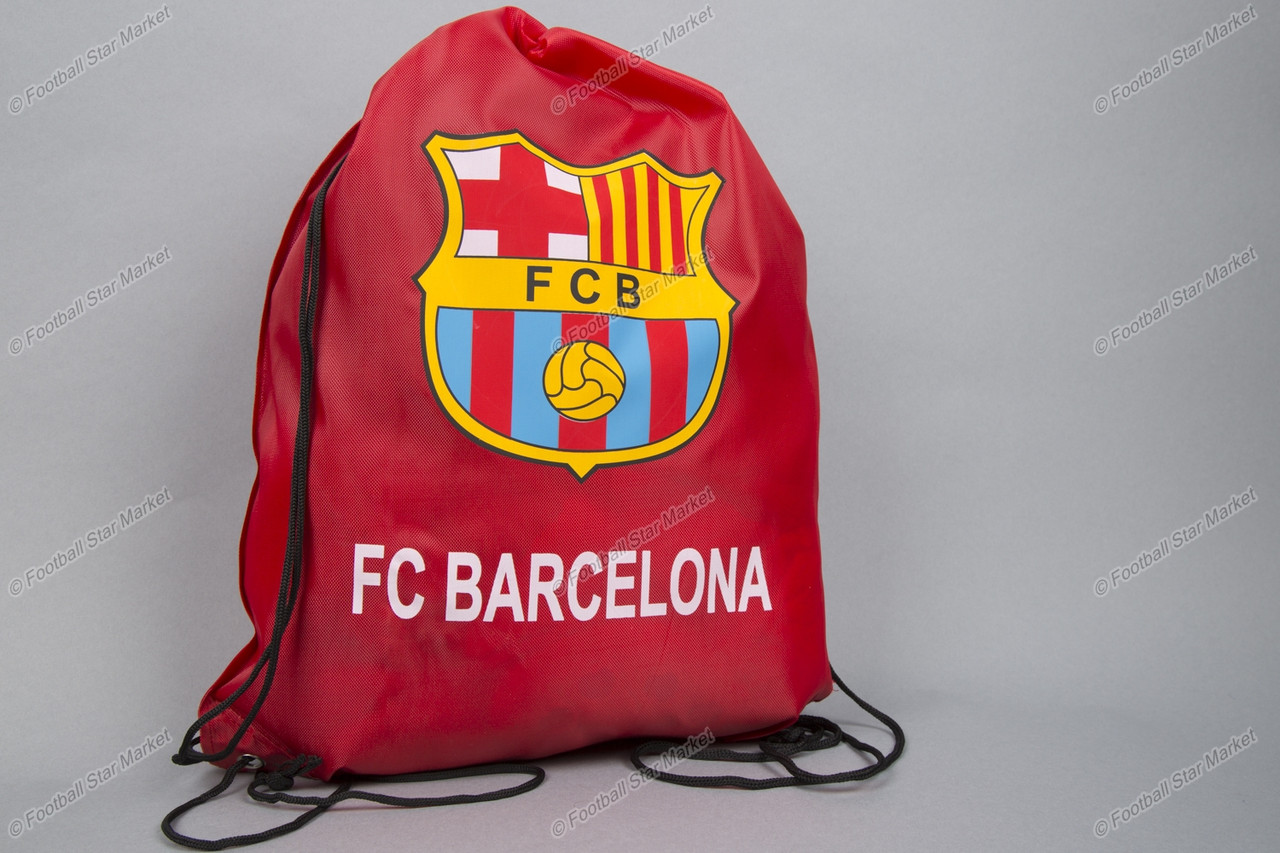 Торба (сумка, мешок, рюкзак) клубная БАРСЕЛОНА краснаяна шнурках