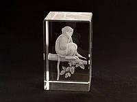 Фигурка Обезьяна голограмма в хрустале
