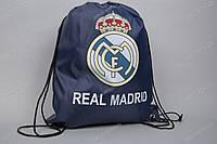 Торба (сумка, мешок, рюкзак) клубная РЕАЛ МАДРИД темно-синяя на шнурках, фото 1