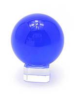 Шар хрустальный синий на подставке
