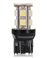 Светодиодная лампа LED T20 W21 / 5 Вт 7443 13 СМД DC12V 5050 из светодиодов ЦВЕТ / желтый /
