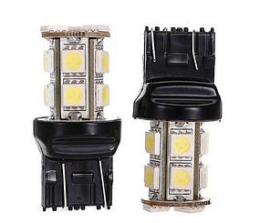 Светодиодная лампа LED T20 W21 / 5 Вт 7443 13 СМД DC12V 5050 из светодиодов ЦВЕТ  / красный /, фото 2