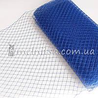 Вуаль шляпная, королевский синий (50 см)