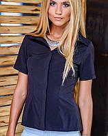 Рубашка с коротким рукавом | Classic однотонная sk