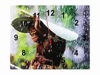 Часы настенные Обезьянка под листом