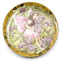 Тарелка декоративная настенная Фея и сирень