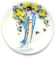 Тарелка сувенирная настенная Гейша