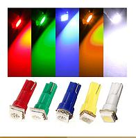 Светодиодная лампа T5 1 LED 5050 для приборной панели (ЦВЕТ БЕЛЫЙ)