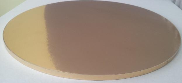 Подложка усиленная под торт круг золотоD40cm (код 02079)