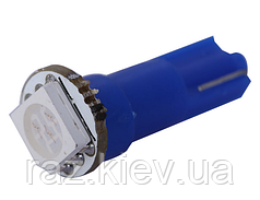 Светодиодная лампа T5 1 LED 5050 для приборной панели (ЦВЕТ СИНИЙ)