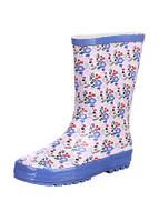 Резиновые сапоги, синяя подошва , украшены цветами 30,31,34,35,36,38