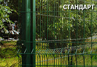 Секция ограждения ЕКО, сетка ПВХ(зелёная,оцинков.),рябица Армадис