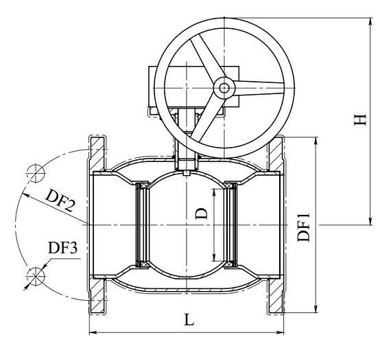 Кран шаровый стальной 11с338п Ду125/125
