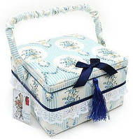 Шкатулка для рукоделия с синим бантиком